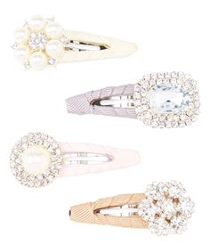 Look at this Olivia Rae Tan, Pink, Ivory & Gray Rhinestone Clip Set on #zulily today!
