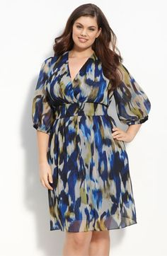 like the watercolor-ish print #plus size