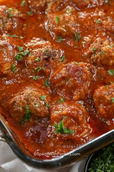Porcupine Meatballs are fantastic because they can be prepared ahead of time. Made with ground beef, rice, onion and seasonings then baked in a rich tomato sauce, these are a delicious weeknight meal. Meatball Recipes, Meat Recipes, Crockpot Recipes, Cooking Recipes, Healthy Recipes, Minute Steak Recipes, Beef Casserole Recipes, Hamburger Recipes, Healthy Food