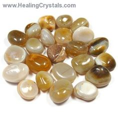 """Often called the """"earth rainbow"""", Banded Agate is a healing stone for body, mind and spirit. It can increase concentration, honesty and memory."""