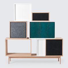 Muuto's Stacked acoustic panels absorb sound and are perfect for…
