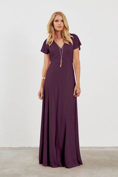 Shop Dove & Dahlia Bridesmaid Dress - Clara in Luxe Stretch Jersey at Weddington Way. Find the perfect made-to-order bridesmaid dresses for your bridal party in your favorite color, style and fabric at Weddington Way.
