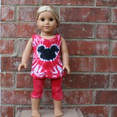Red with a Black Mouse Tie Dye Tunic and by SparklePigDesigns, $25.00