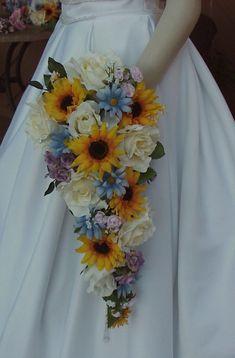 sunflower wedding bouquets | Wedding Flowers, Baby Showers & More: Sunflower Wedding Flowers #weddingflowers