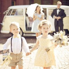 Darling flower girl and adorable ring bearer    If I decide to have kids in the wedding