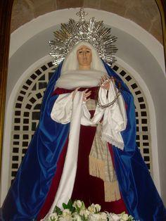 Virgen de la Soledad. Puertollano (Ciudad Real) manto azul