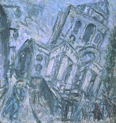 Leon Kossoff, 'Christ Church, Spitalfields, Morning' 1990 www.tate.org.uk