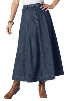 $35 Long Denim Skirt