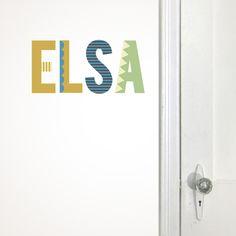 porta adhesiu lletres  #letters #custom #wallsticker #decoration #adhesiu #kids #room