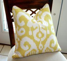 Fabric - Ikat Designer Pillow Cover Duralee Fergana. $48.00, via Etsy.