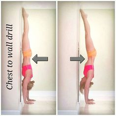 Chest to wall drill  . This is probably the king of all handstand drills in my opinion . If you can find that connection with your core here you should float from the wall and feel possibly your most stable handstand ever.   For beginners start with a short down dog with feet at the wall. .  Take one foot up the wall without compromising your lower back. Don't sink into your lower back. .  Remember if you're just a beginner building up to this then you don't have to go all the...