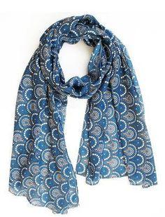 Scarf / Sarong - Midnight blue mosaic Blue Mosaic, Midnight Blue, Fox, Accessories, Collection, Fashion, Moda, Fashion Styles, Fasion