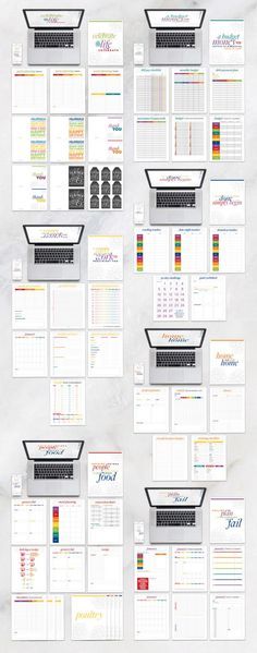 An Organized Life eBook-- Everything you need to organize your life. Budget Goals fitness recipes home printables calendars and planner templates. and (single page and double page for the planner) Planner Pages, Life Planner, Happy Planner, School Planner, Planner Template, Printable Planner, Planners, Home Binder, Home Management Binder