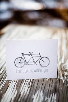 """""""i can't do this without you"""" card   via deleite blog"""