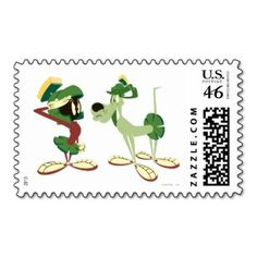 Marvin the Martian and K-9 2 Stamps ...follow Marvin at http://marvin-martian.weebly.com  #stamp #letter