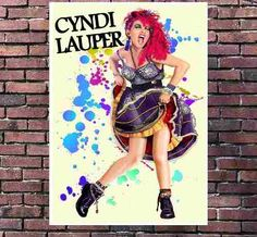 Poster Exclusivo Cyndi Lauper Pop Art Anos 80 - Tam 30x42cm