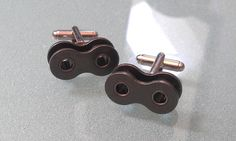 Bike Chain Motocross Cuff Links by BeachBMXDesigns on Etsy, $18.00