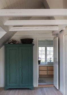 White exposed beams ... like this for the porch