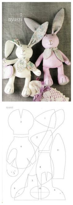 Sewing Toys Patterns Children Ideas For 2020 Craft Patterns, Doll Patterns, Sewing Patterns, Sewing Stuffed Animals, Stuffed Animal Patterns, Bob Bebe, Sewing Crafts, Sewing Projects, Sewing Diy