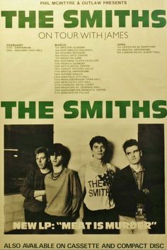 Check out The Smiths @ Iomoio Bedroom Wall Collage, Photo Wall Collage, Picture Wall, Tour Posters, Band Posters, Poster Wall, Poster Prints, Historia Do Rock, Punk Poster