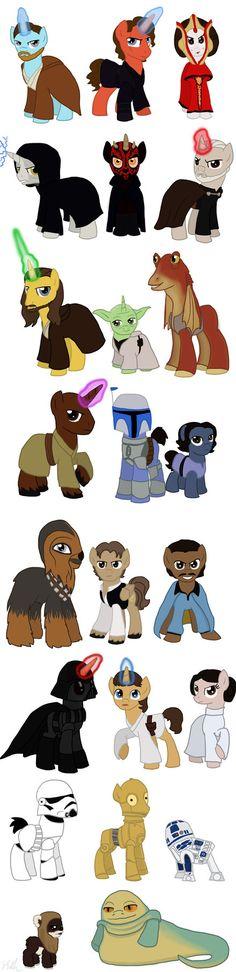 Star Wars Ponies by Qemma