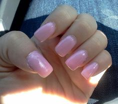 fake nails with baby pink