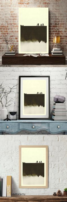 I need this!!!!!! STRANGER THINGS Inspired Art Print Movie Poster, Mid Century Modern, Sci fi, Vintage Style,Digital file, Movie poster #strangerthings #ad #giftideas