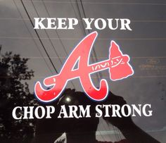 Atlanta Braves Window Sticker by AtlantaBraves4 on Etsy, $10.00