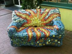 We've seen this blinged-out love seat on the mall every visit we've made to C'ville!