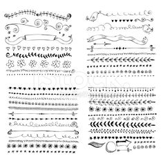 Hand drawn vector design elements royalty-free stock vector art