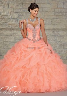 Peach beaded sweet 15 dress 2016 new organza and taffeta quinceanera ball gown with straps 89023_Quinceanera Dresses 2016_Quinceanera Dresses 2016,sweet 15 dresses 2016,Dama Dresses 2016,Little Girl Pageant Dresses 2016,Tutu dress 2016,New Style Quinceanera Dresses 2016 on Quinceaneradressmall.com