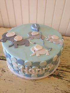 Elephant first Birthday cake