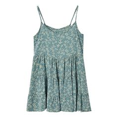 Daisy Pattern Print Sleeveless Dress (200 MXN) ❤ liked on Polyvore featuring dresses, tops, vestidos, daisy-print dress, blue print dress, no sleeve dress, print dress and blue sleeveless dress