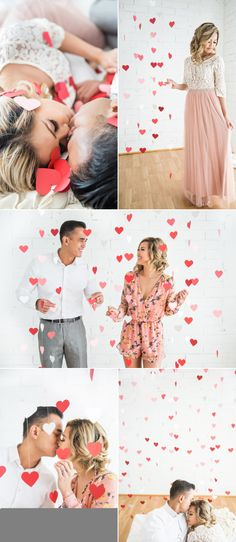 Romantic Valentine's Day Inspired Engagement Session – Style Me Pretty