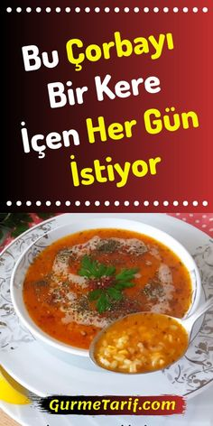 Şifa Depot Ezogelin Suppenrezept – Gourmet-Rezept - My CMS Quick Easy Meals, Easy Dinner Recipes, Gourmet Recipes, Soup Recipes, Breakfast Recipes, Vegetarian Recipes, Chicken Recipes, Italian Chicken Dishes, Turkish Recipes