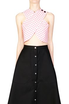 Small Checked Poplin Top | CARVEN | ROSEWOOD