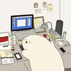 Delightful Illustrations Capture The Daily Life Of An Adorable, Earnest Seal - DesignTAXI.com