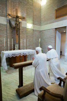 Pope Francis I and Pope Emeritus Benedict XVI