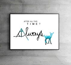 SALE Harry Potter turquoise poster After All by InstantGoodVibes