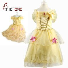 5035bb92d9086 Girls Princess Summer Dresses Kids Belle Cosplay Costume Clothing Children  Rapunzel Cinderella Sleeping Beauty Sofia Party Dress-in Dresses from  Mother ...