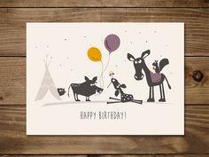 #Postkarte Happy Birthday. #Geburtstag