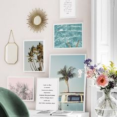 Boho Beach Wall Art Prints, unframed - Create your own Boho Chic Home Decor with our inexpensive beautiful prints. Cool Diy, Plage Art Mural, Looks Boho Chic, Wall Art Decor, Wall Art Prints, Cactus Wall Art, Digital Print, Beach Wall Art, Landscape Walls