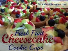 Looking for a cool and colorful dessert? These easy cheesecake cookie cups are quick to make and fun to eat, and the small size means plenty for everyone. Here's how to make them!