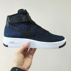 64e9fe6a325d79 Shoes · Nike Flyknit Air Force 1 BLUE Nike Running