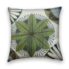 Contemporary Decorative Pillow Cover--Suzani 20 x 20 Throw Pillow--Seagreen, Steel Blue, Mocha,Cream.. $49.00, via Etsy.
