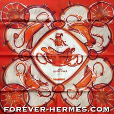 One of the classic Hermes Paris scarves was Springs by Ledoux, and the prolific artist Dimitri Rybaltchenko took this design and made of it the NEW SPRINGS a vibrant and passionate oil-painting version. In store now http://forever-hermes.com #ForeverHermes we have it new with tags and the very rare Jewel Box glossy cover in the matching design! Would make for a stunning interior decoration! #equestrian #horse #HorseCarriage #hermescarre #HermesScarf #HermesParis #hermescollector…