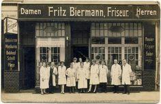 Foto-AK Stettin Friseur Geschäft um 1935 Lindenstraße