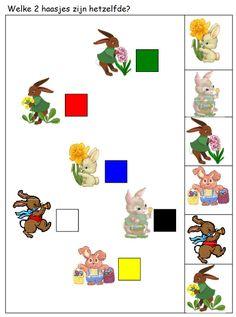 * Welke 2 haasjes zijn hetzelfde? 1-2 Kids Rugs, Speech Therapy, Worksheets, Cards, Ideas, Cousins, Infants, Speech Pathology, Kid Friendly Rugs