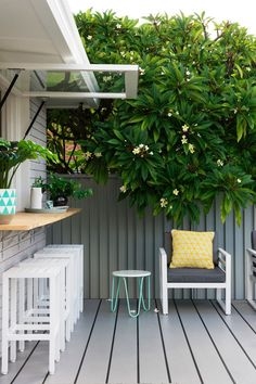 """Cladding crazy"" is how Lana from Three Birds Renovations describes their latest project, the Northmead Renovation. The use of cladding both indoors and outdoors gives this classic Australian home a modern refresh. Outdoor Decor, Pass Through Window, Home, Outdoor Living, Garage Style, Home Renovation, Australian Homes, Renovations, Outdoor Kitchen"