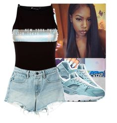 """""""Fair"""" by divap01 ❤ liked on Polyvore featuring NIKE, New Look and T By Alexander Wang"""